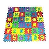 Khosd Spielmatte Puzzle, Puzzlematte Kinder Lernteppich mit Buchstaben und Zahlen, Puzzlematte Buchstaben u. Zahlen, Eva Schaumstoff Spielteppich, 36 teilige Spielteppich für Baby & Kinder
