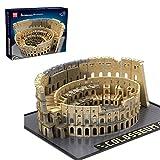 Foxcm Architecture Colosseum Modellbausatz, 6466 Teile Bausteine Architektur Kolosseum Modell, Kompatibel mit Lego Steinen
