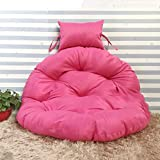 J-Kissen Stuhlkissen Kissen, Kissen Rond Schaukel Stuhl Pad, hängende Hängesessel Pad Cradle Nest Rattan-Stuhl-Matte (Color : Rose Pink, Size : 105cm(41inch))