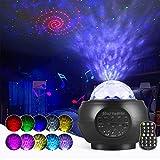 LED Sternenhimmel Projektor Lampe Nachtlicht Galaxy Projektor, Starry Projector Light mit Bluetooth Lautsprecher für Party Weihnachten Ostern Halloween