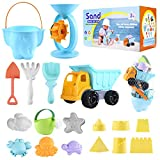 ARANEE 20 Stück Strand Sandspielzeug Set mit Sand Förmchen, Gießkanne, Strandschaufel Rechen Werkzeugsatz, Sanduhr, Sandkasten Spielzeug Set Sandspielset Strandspielzeug Sand und Wasser Spielzeug