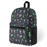 Minecraft Rucksack Kinder, Schulrucksack Jungen Creeper Design, Schultasche Große Kapazität, Rucksack Schule