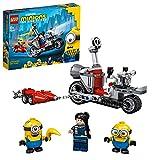 Lego 75549 Minions Unaufhaltsame Motorrad-Jagd, Spielzeug für Kinder ab 6 Jahre mit Figuren: Bob und Stuart