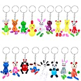 TOYMYTOY 24 Stücke Niedlichen Tier Schlüsselanhänger Spielzeug Holz Schlüsselanhänger Tasche Charme Geschenk für Kinder (zufällige Muster)