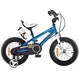 Royal Baby Kinderfahrrad Jungen Mädchen Freestyle BMX Fahrrad Stützräder Laufrad Kinder Fahrrad 14 Zoll Blau