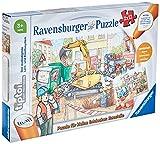 Ravensburger tiptoi Spiel 00049 Puzzle für kleine Entdecker: Baustelle - 2x12 Teile Kinderpuzzle ab 3 Jahren, für Jungen und Mädchen, 1 Spieler