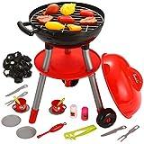 JOYIN 24 PCS Barbecue Grill Kinder BBQ Kochen Küche Spielzeug mit BBQ-Zubehör Kochen Spielset für Kinder Küche Vortäuschen Spielen