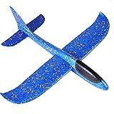 HuiBOYS Segelflugzeug, Flugzeug Spielzeug Kinder Schaum Segelflugzeug, Manuelles Wurfspiel, Spaß, Herausforderung, Modell Schaum Flugzeug, Geburtstagsgeschenk, Jungengeschenk 48 * 48.5 * 12cm