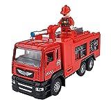Xolye Kinderspielzeug Feuerwehrauto Wasserspray Spielzeug Auto Junge Geschenk Klang und Licht Ziehen Zurück Spielzeugauto mit Tür offen