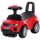 HOMCOM Kinderfahrzeug Lauflernhilfe mit Hupe Stauraum Rutschauto PP Rot 62 x 28 x 41,5 cm
