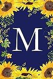 M: Sonnenblume Journal / Notizbuch im praktischen Taschenformat mit Monogramm - liniert,soft cover Schreibheft Geschenkidee für Geburtstag, Muttertag