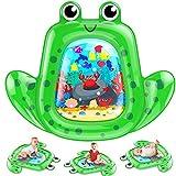 VATOS Baby Wassermatte Groß, Baby spielzeug 3 6 9 Monate, aufblasbare Wasserspielmatte ist perfektes sensorisches Spielzeuggeschenk Das Stimulationswachstum Ihres Neugeborenen