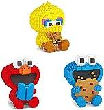 QSSQ 3 Stücke Mini Blöcke Cartoon Action Figure Micro Bausteine Pädagogisches Anime Kinder Spielzeug Mädchen Geschenk Geburtstagsgeschenk