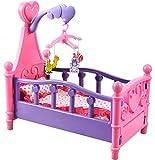 ISO TRADE Großes Puppenbett mit Kissen Decke Karussell 3in1 Bunt Babys Kinder Dekoration 1400