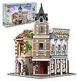 WANCHENG Mould King 16026 Bausteine Haus, 3039 Teile Groß Modular Teehaus Modellbausatz, Klemmbausteine Gebäude Modell mit Beleuchtung, Kompatibel mit Lego