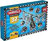 Marble Racetrax 869010 - Murmel Rennbahn Starter Set 32 teilig, Kugelbahn mit 5 Meter Laufstrecke & 5 Murmeln, Murmelbahn Bastelset, Bauset aus FSC Karton, Konstruktionsset für Kinder ab 8 Jahre
