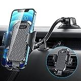 VANMASS kfz Handyhalterung Auto, 3 in 1 Langer Arm Auto Handyhalterung mit flexiblem Schwanenhals Lüftung & Saugnapf Universale Handyhalter Auto Kompatibel mit Autos & Handys iPhone Samsung Huawei LG
