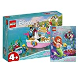 Collectix Lego Set - Arielles Festagsboot (43191) + Disney Prinzessin Rätselabenteuer, Bauset ab 4 Jahren