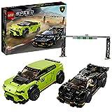 Lego 76899 Speed Champions Lamborghini Urus ST-X & Lamborghini Huracán Super Trofeo EVO, Rennwagen-Set