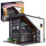 TopBau MK 16036 Café/Restaurant, Modular Building Haus Bausatz mit LED Licht, 2728+Teile Street View Kompatibel mit Lego 21319 Ideas