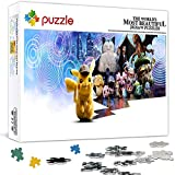 1000 Teile Puzzle für Erwachsene Pokémon Detektiv Pikachu Puzzle Spiel Dekompression Spielzeug Geschenk (75 x 50 cm)