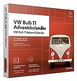 FRANZIS 67111 - VW Bulli T1 Adventskalender 2020 – in 24 Schritten zum roten Bulli unterm Weihnachtsbaum, Bausatz für das detailgetreue Modell im Maßstab 1:43, empfohlen ab 14 Jahren