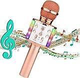 Karaoke Mikrofon,4-in-1Tragbarer Bluetooth Karaoke Mikrofon mit KTV Lautsprecher Drahtloses Bluetooth Mikrofon für Kinder Karaoke Mikrofon mit Aufnahmefunktion für Smartphone/PC/Android