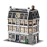 Oeasy Modular Haus Bausteine Bausatz, 4 Etagen Architektur Sanctum Sanctorum mit LED Beleuchtung, Häuser Konstruktionsspielzeug Kompatibel mit Lego - 6619 Klemmbausteine