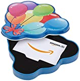 Amazon.de Geschenkkarte in Geschenkbox (Geburtstagsballons)