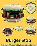 MOC Anleitung Burger Stop kompatibel mit Lego® Steinen: MOC building instruction compatible with Lego® Bricks