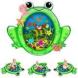 Kaome Wassermatte Baby Wasserspielmatte BPA-frei Große, Aufblasbare Spielmatte Baby Spielzeug ab 3 6 9 Monate Bauchzeit Matte für Baby Frühe Entwicklung Aktivitätszentren (80 x 100 cm)