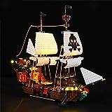 ZHLY LED Licht-Set für Lego Creator 3-in-1 Piratenschiff Beleuchtung Lichtset Kompatibel Mit Lego 31109 USB und Batterie Betrieben (Lego-Modell Nicht enthalten)