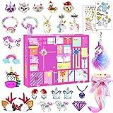 Adventskalender Geschenk Mädchen, 2021 Adventskalender Einhorn Schmuck Kinder Geschenke, Spielzeug Mädchen Geschenke Weihnachten 24 Überraschungen Geschenk Mädchen 3 4 5 6 7 8 9 10 11 Jahre