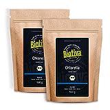 Chlorella Pulver Bio 1000g (2x500g) - Chlorella Vulgaris - Algen - Abgefüllt und kontrolliert in Deutschland (DE-Öko-005)