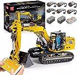 Technik Bagger Bausteine, 2.4G/APP Ferngesteuerte Technik Raupenbagger Modell mit 6 Motoren und Fernbedienung, Kompatibel mit Lego technic