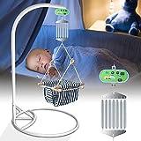 HBIAO Babyschaukel Babywippe Controller, Hängende automatische Feder mit einstellbarem Timer für Babywiege und Babyhängematte, bis zu 21 kg