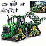 GDYAN Technik Traktor Ferngesteuert für Fortgeschrittene mit interaktiven Motoren 1706Teile 2.4G RC Bagger klemmbausteine Kompatibel mit Lego Technik Set für Kinder und Erwachsene