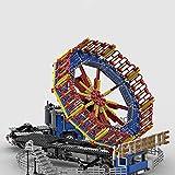 OLOK Freizeitpark Spinnball Meteorit Modell Bausatz, 2062 Teile Freizeitpark Spinnball Meteorit mit Auto und Motoren, Konstruktionsspielzeug Kompatibel mit Lego Creator