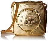 LEGO Kinder-Handtasche, Ziegelstein, goldfarben, gold, Einheitsgröße, Brick Crossbody Handtasche, goldfarben