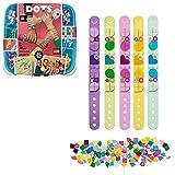LEGO 41913 DOTS Freundschaftsarmbänder, 5 x Kinderarmband, Bastelset für Kinder, Mädchen und Jungen, Kinderschmuck