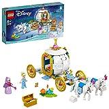 LEGO 43192 Disney Princess Cinderellas königliche Kutsche Pferde Spielzeug ab 6 Jahren mit 2 Minipuppen und Figuren