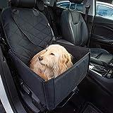 Hunde Autositz für kleine und mittelgroße Hunde + extra Sicherheitsgurt schnell verstaubar + wasserabweisend   Autositz Hund bis mittlere Hunde   Hundetransportbox, Hundesitz im Auto   Hundebox Auto