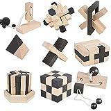 B&Julian ® 3D IQ Holzpuzzle 9 Mini Puzzle Set aus Holz Knobelspiele Geduldspiel Rätselspiel Geschicklichkeitsspiel für Kinder Erwachsene Ideen Adventskalender Mitgebsel