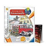tiptoi Ravensburger Buch Wieso? Weshalb? Warum? 4-7   Unterwegs mit der Feuerwehr + Kinder Feuerwehr Auto Poster