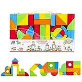 deAO Riesige Bausteine aus Schaumstoff Spielzeug für das kreative Lernen von Kindern Set von 131 Stück