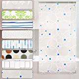 casa pura Modernes Duschrollo Sunny Bubbles mit Kassette | schnelltrocknendes Rollo für Dusche und Badewanne | bis zu 240 cm Länge ausziehbar | zahlreiche Breiten wählbar (Breite 80 cm)