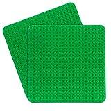 Dulabei 2 Stück Große Bauplatte Kompatibel mit Major Brand, Kreatives Vorschulspielzeug, Grün