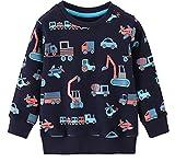EULLA Kinder Jungen Sweatshirt Pullover Activewear 92-122 1-7 Jahre 3# Dunkelblau Traktor DE 104