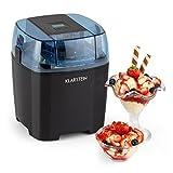 Klarstein Creamberry - Eismaschine, Speiseeismaschine, 4-in-1-Eisbereiter, Zubereitung in 20 Minuten, 1,5 Liter Fassungsvermögen, Thermobehälter, stromsparend, schwarz