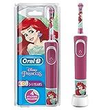 Oral-B Stages Power Kids Elektrische wiederaufladbare Zahnbürste mit Disney-Prinzessinnen ab 3 Jahren (Verpackung kann variieren)